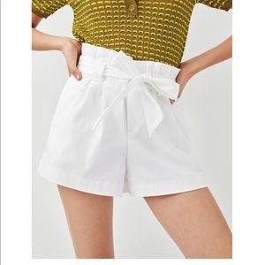 NWT zara paperbag shorts S